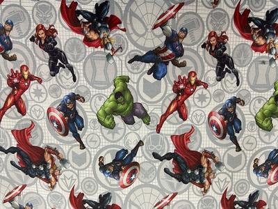 Tissu coton Avengers Marvel