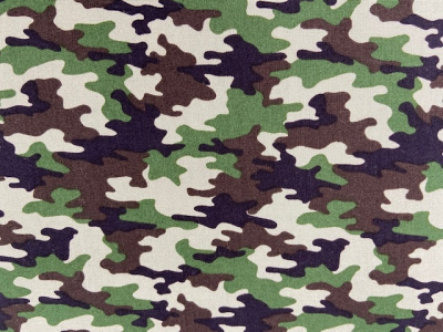 Tissu coton camouflage tons verts