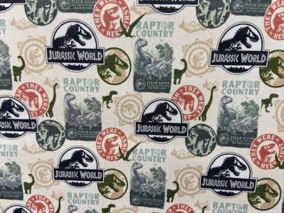 Tissu coton Jurassic World