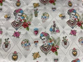 Tissu jacquard Frida Kahlo