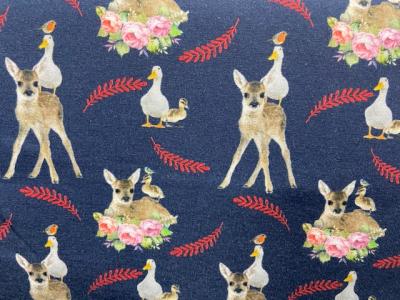 Tissu jersey coton cerfs