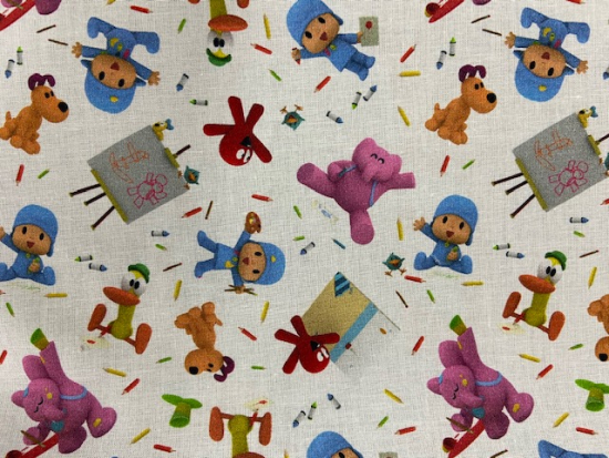 Tissu coton Pocoyo