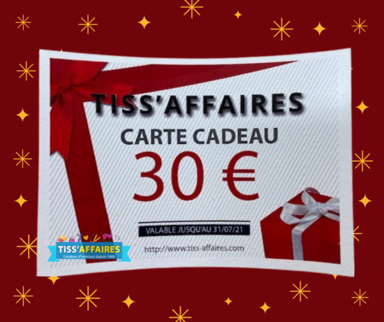 Fête des Mères Carte cadeau 30 €