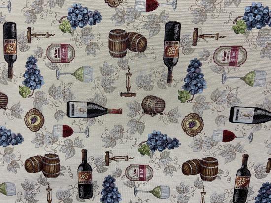 Tissu jacquard vins